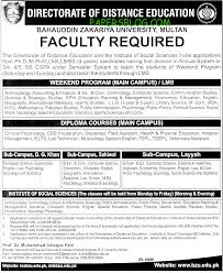 directorate of distance education jobs am