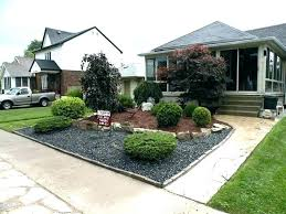 simple landscaping ideas. Gravel Front Yard Simple Landscape Amusing Small Landscaping Ideas Diy