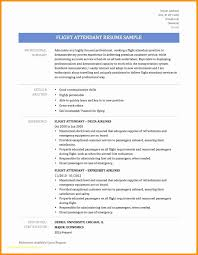 Resume For Flight Attendant Inspirational 21 No Experience Resume