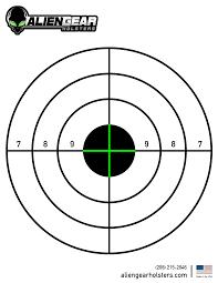 Free Printable Shooting Targets