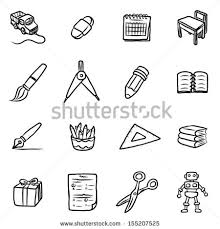 stock vector education objects or icons cartoon vector and illustration hand drawn style isolated on white 155207525 school calendar stock images, royalty free images & vectors on 2016 2017 academic calendar template