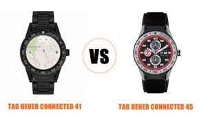 Tag Heuer Battery Chart Tag Heuer Connected 41 Vs 45 Compared Smartwatch Series