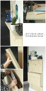 diy plywood desk collage with text