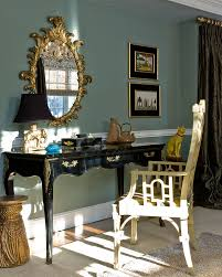 teal and gold bedding home office transitional with dressing table wall decor animal hide rugs home office