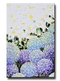 giclee print art abstract painting hydrangea purple lavender blue white flowers canvas prints on canvas wall art purple flowers with giclee print art abstract painting hydrangea purple lavender blue