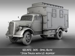 ambulance d models d ambulance files com opel blitz 3t ambulance truck ec koffer 3d