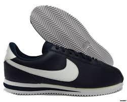 819719 410 nike cortez basic leather obsidian white silver men sneakers