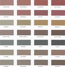 Color Chart Vanhorn Concrete