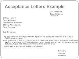 Offer Acceptance Email Sample Job Offer Letter 9 Free Sample Example Format Acceptance