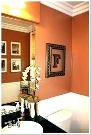 Burnt Orange Bathroom Burnt Orange Bathroom Burnt Orange Bathroom Simple Orange Bathroom Decorating Ideas