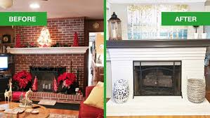 painted white brick fireplaceDated Brick Fireplace gets Painted White  Angies List
