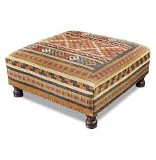 ... Rae Plains Southwestern Rustic Kilim Square Coffee Table Ott Rae Kathy  Kuo Home S Full Size