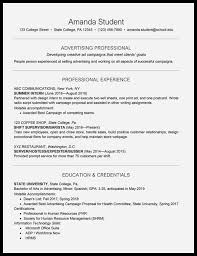 Sample Of Resume For Students In College 74 Pleasant Figure Of College Student Resume Resume