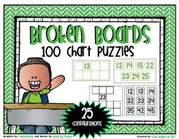 More And Less Number Grid 100s Chart Puzzles