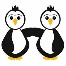 two penguins holding hands. Delighful Holding Two Penguins Holding Hands Clipart Cute Inside L