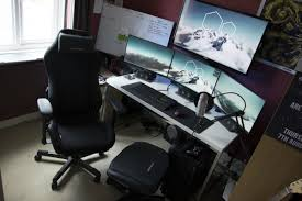 brilliant two computer desk setup with battle station gaming computer desk setup white desk ikea with