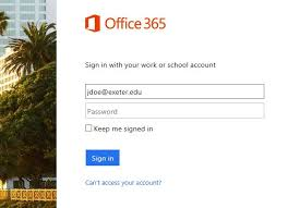 login outlook 365 email phillips exeter academy