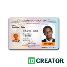 Id Cards Template Professional Student Id Badge