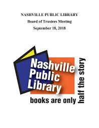 Trustees Theater Seating Chart September 2018 Npl Board Packet By Nashville Public Library