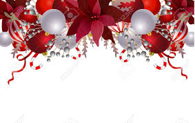 Christmas Ornaments Border Border With Christmas Decorations And Ornaments Isolated On White