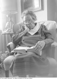 Photograph of Mable Chandler reading a book] - UNT Digital Library