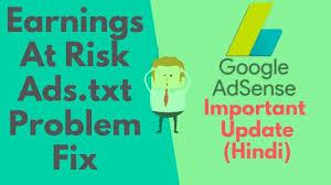 google adsense important update for ger wordpress earnings at risk ads txt problem fix