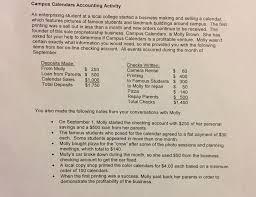 Solved Campus Calendars Accounting Activity An Enterprisi