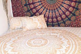 gold mandala quilt cover and pillowcases boho duvet cover with regard to boho duvet covers high