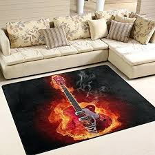 full size of guitar shaped area rug fender gibson fire polyester mat for furniture alluring