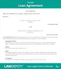 Payment Agreement Template Loan Contract Free Service Sample Between ...