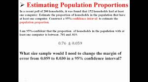 calculating required sample size to estimate population calculating required sample size to estimate population proportions