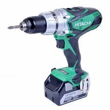 hitachi cordless drill. hitachi dv18dsdl/jj 18v cordless li-ion combi drill (2 x 5ah batteries) h