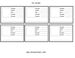 Printable Identification Card 004 Child Id Card Template Free Best Of Hospital Badge Vintage