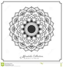 Mandala Tattoo Design Template Stock Vector - Image: 80930235