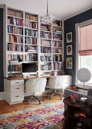 chic office design. Chic Office Design With To The Ceiling Bookcase   2to5 E