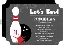 Bowling Party Invitations Charcoal Lets Bowl Kids Birthday Invitation Big Ticket Ideal Bowling