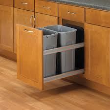Knape U0026 Vogt 35Quart Plastic Pull Out Trash Can Trash Can Cabinet Insert46