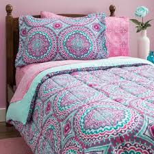 colorful bed sheets. Thalia Purple Medallion 11-Piece Bed-in-a-Bag With Extra Sheet Colorful Bed Sheets