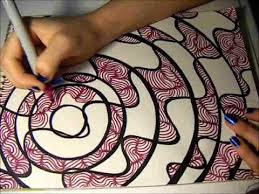 By implying texture with lines and values. Time Lapse Drawing Lines And Dots Youtube