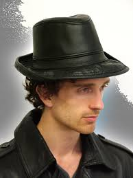 fedor men s stitched brim fedora leather hats