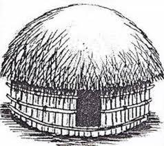 Cara menggambar rumah adat Papua