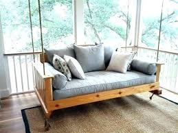 porch bed swing plans outdoor round for australia porch swings
