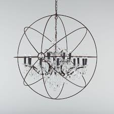 engineered 43 iron globe crystal chandelier