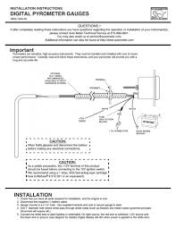 autometer pyrometer wiring diagram autometer pyrometer wiring