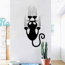 Designer Wall Art Cartoon Style Cat Vinyl Wall Stickers For Kids Room Decoration Accessories Wall Decals Art Wall Decor Stickers Mural