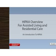 Care Oncourse And Hipaa For Residential Living Overview Assisted UyOUwqfFR