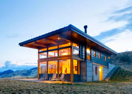 Contemporary Cabins Passive Solar Nahahum Cabin Overlooks Dramatic Canyon Views In The