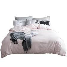 100 cotton brief pink stripes duvet cover set twin queen size bedding sets for s solid color grey bed sheet pillow case best bedding sets queen size
