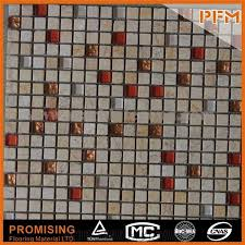 decorative square glass natural stone mosaic for outdoor wall new trend glass mosaic tiles chocolate brown tile glass and stone mosaic