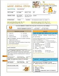 Pet Sitter Information Form Pet Sitting And Dog Walking Form Customizable Plus Add